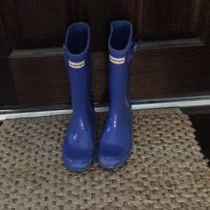 Hunter Boots size 3 blue